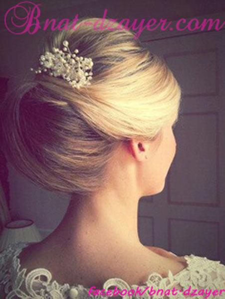 Les bijoux de cheveux pour mari es 2013 bnat dzayer Chignon mariee bas