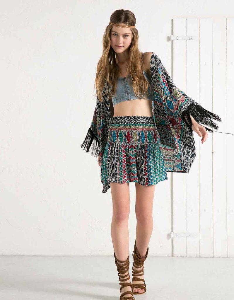 Kimono Bershka imprimé africain http://www.bershka.com
